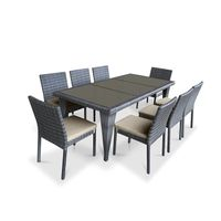 Luxury patio dining sets outdoor garden tables aluminium furniture