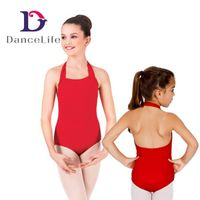 Children's Halter Gymnastic Leotard with Low Back, Various Colors are Available thumbnail image