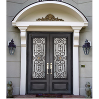 Hand Wrought Iron Entrance Door(JDL-1009)