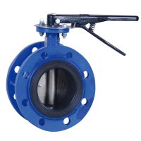 Water Work Concentric Flanged Butterfly Valve with CE Approval