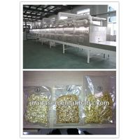 Continuou tunnel type microwave grain drying machine
