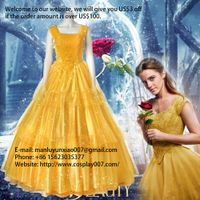MANLUYUNXIAO Women Beauty And The Beast Costume Belle Dress Women Evening Dress Cosplay Costume