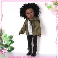 18 inch vinyl black doll