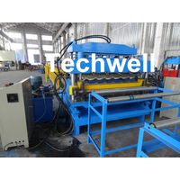 IBR / Corrugated Sheets Dual Level Cold Roll Forming Machine With 5 Ton Manual Uncoiler