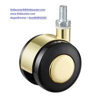 [Feida]Nylon furniture caster beautiful yellow nylon China caster manufacturer