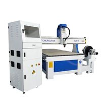 3D Router CNC 4 Axis 1325 Wood Carving Machinery With Rotary Axis For Furniture Legs