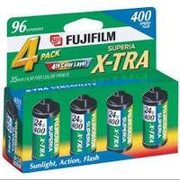 FujiFilm ISO 200 35mm Color Print Film - 24 Exposures, 4 Pack