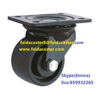 [Feida]High quality black electrophoresis nylon swivel caster wheel china Feida caster manufacturer