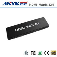 Factory price 3D HD 1080P  4x4  4 in 4 out HDMI matrix