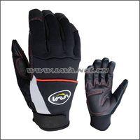 Black cow grain leather mechanic gloves/industry gloves