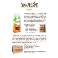 CANNABISSIMO - gourmet coffee with hemp seeds. Made in Italy