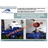 Alfa Laval oil purifier, Solid bowl separator MAB-103, MAB-104