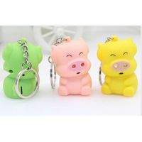 pig LED keychain with sound