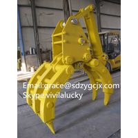 Durable excavator log Grabs, high quality, ISO certificated PC240 PC130 Log grab thumbnail image