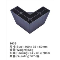 New1035 furniture  plastic legs/L-shape furniture parts/sofa legs
