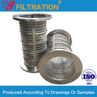 Wedge wrapped wire screen basket cylinder for solid -liquid separation