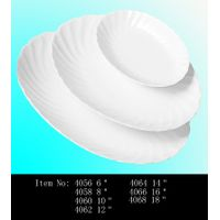 Fairway Porcelain factory most hot sale item whorled oval plate for banquet party and hotel use