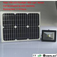 10w solar flood light with light sensor