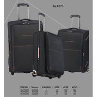 Outstanding Black Trolley Carry-on Spinner Nylon Soft Luggage with TSA Lock