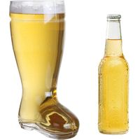 2.5L Large and Firm Clear Glass Boot Beer Mug for Drinking Your Wine with Gusto thumbnail image