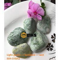Vietnam Light Green Tumbled Pebble Stone