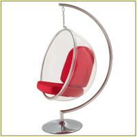 2019 Classical Coffee Shop Acrylic Clear Hanging Bubble Chair with Stand