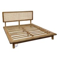 BENING Teak and Cane Indoor Bed thumbnail image
