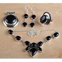 925 Wholesale Sterling Silver Black Onyx Jewelry Set