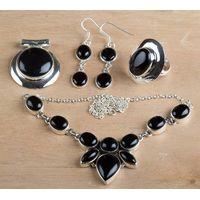 925 Wholesale Sterling Silver Black Onyx Jewelry Set