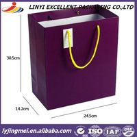 OEM and ODM accepted paper shopping bag with handles