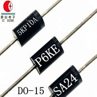 Free Samples 5000W 11V TVS Chip Rectifier Diode 5KP11A/CA In R-6 Case