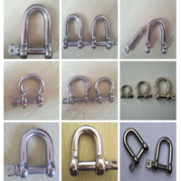 Galvanized European Type large d shackle type for shackle rigging