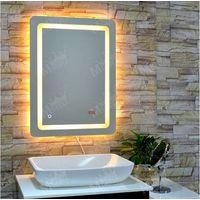 Mgonz led lighting anti-fog bathroom mirror square mirror thumbnail image