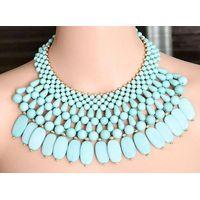 Hot Sale High Quality Fashion Handmade Chunky Multi layered Beads Necklace thumbnail image