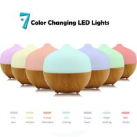 Wood Grain Rainbow LED Oil Aroma Diffuser electric Aromatherapy Cool Mist Diffuser Household Humidif