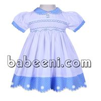 Cute geometric scallop dress for baby girl - DR 2269