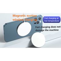 Magnetic suction mobile phone wireless charger