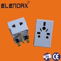 UK type 3 Flat Pin 13A Plug to Universal Socket(P7037)