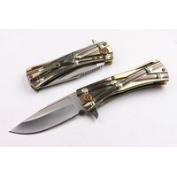 Quality D2 Folding Knife Pocket Knife titanium alloy Handle Knife
