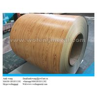 Mental roofing material imitaion wooden pattern steel coil