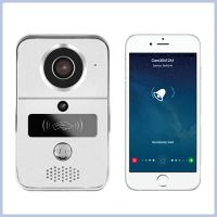 720P H.264 smart IP video doorbell/ WiFi doorbell with MicroSD fully Duplex Intercom, IR CUT