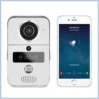 720P H.264 smart IP video doorbell/ WiFi doorbell with MicroSD fully Duplex Intercom, IR CUT