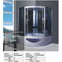 150x150cm luxury steam shower rooms with whirlpool bathtub for two person ZY-112 thumbnail image