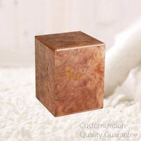 Luxury Good Quality Burlwood Traditional Pet Loss Supplies Cremation Ashes Holder Urn Box