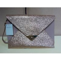 Trendy envelope style leather bag