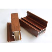 Fine wood grain color aluminum profile for windows