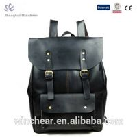 Unisex genuine leather backpack