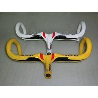 full carbon bike handlebar 420mm, integrated with stem 100mm