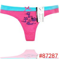 Cute Cat cotton thong cheeky lady panties sexy women underwear lady g-string women t-back sexy intia