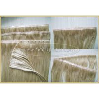 Double weft seamless skin weft indian naturally curly weave hair